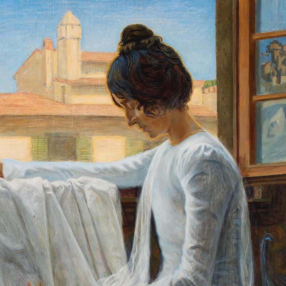 Axel Haartman, Maria. Öljy kankaalle, 1900.