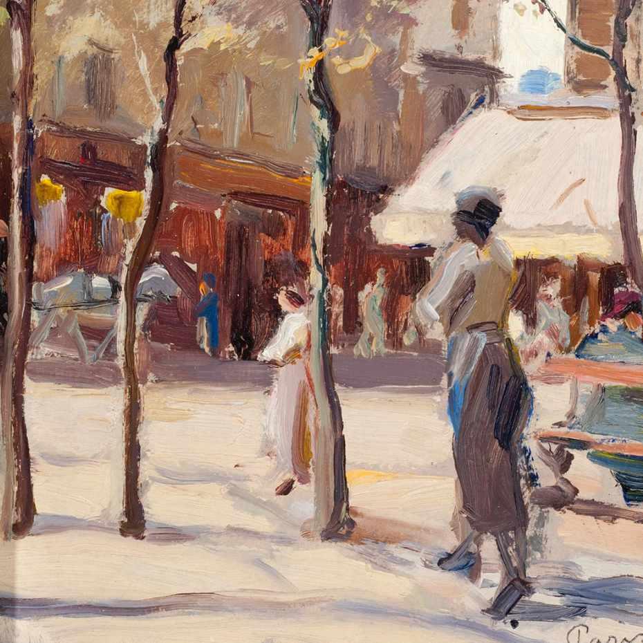 Santeri Salokivi, Pariisi, öljy kankaalle, 1919.