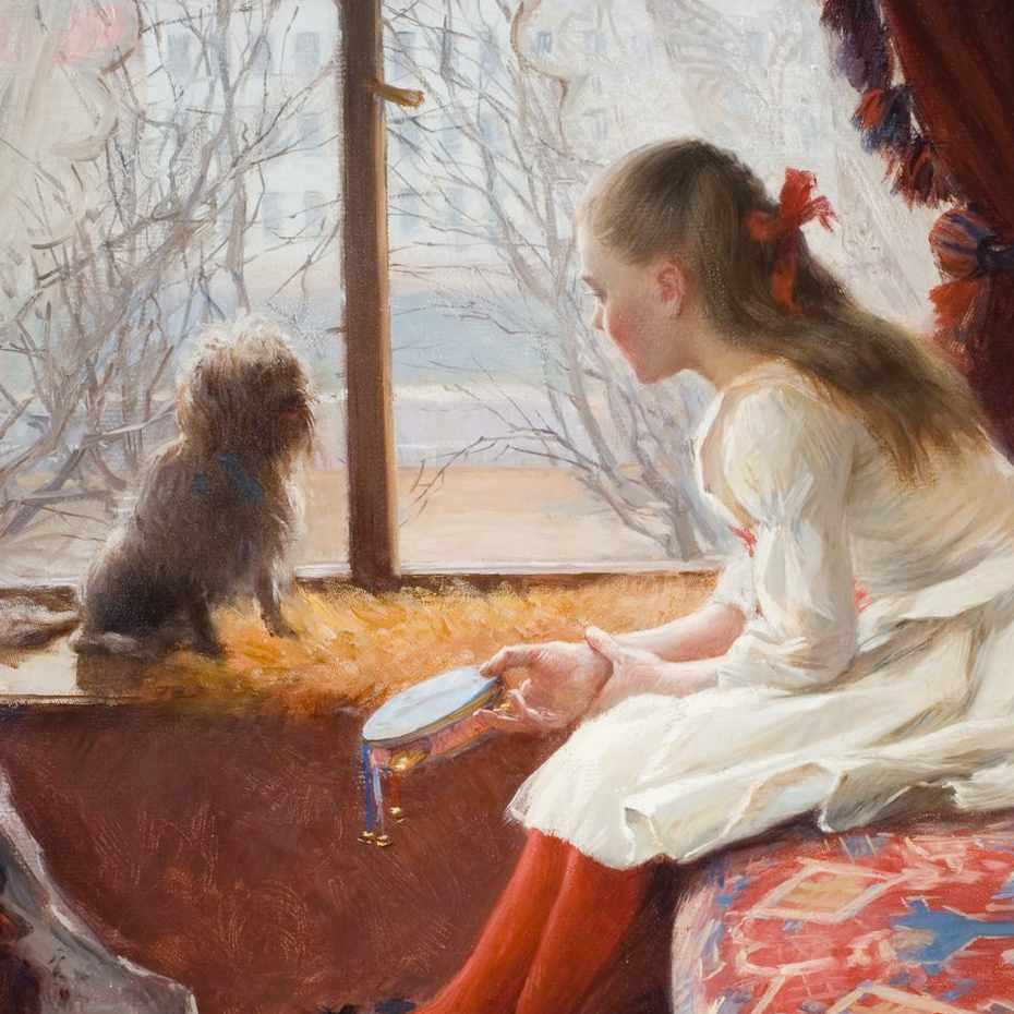 Elin Danielsson-Gambogi, Walborg Jacobsson-Eager, öljy kankaalle, 1890.