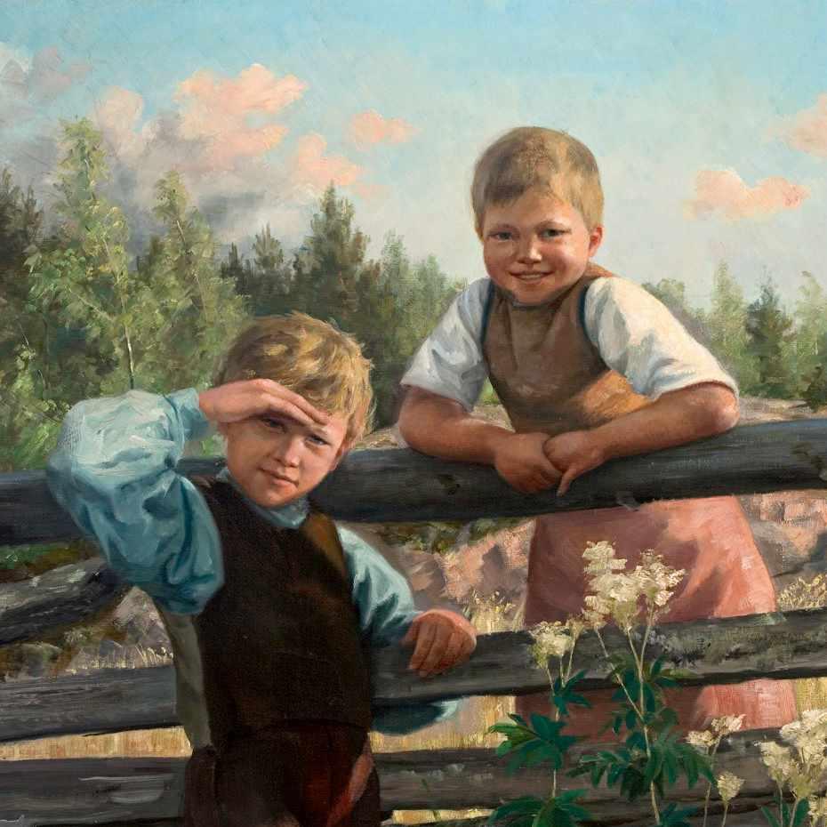 Nina Ahlstedt, Tien vieressä, öljy kankaalle, 1888
