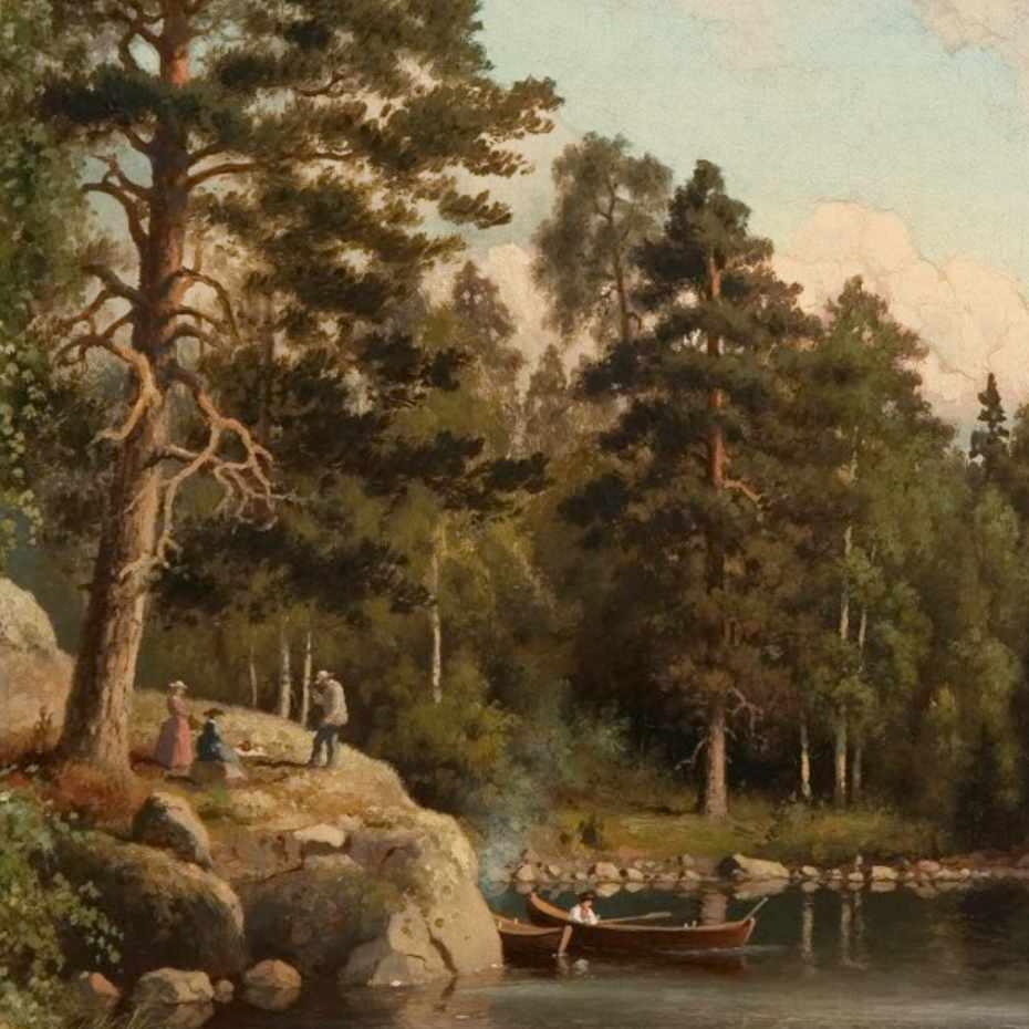 Ferdinand von Wright, Kesämaisema, öljy kankaalle, 1880