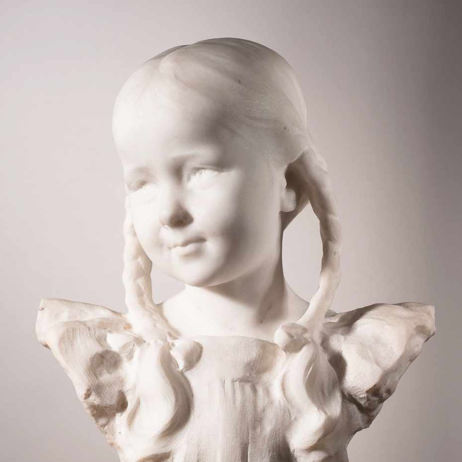 Emil Wikström, Anna-Liisa, 1906, marmori, 44,5 x 33 x 17 cm. Kuva: Vesa Aaltonen.
