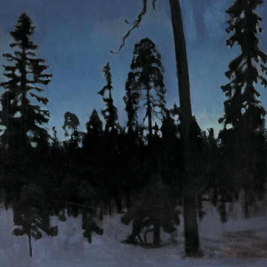 Eero Järnefelt, Talvimaisema, 1900, öljy kankaalle.