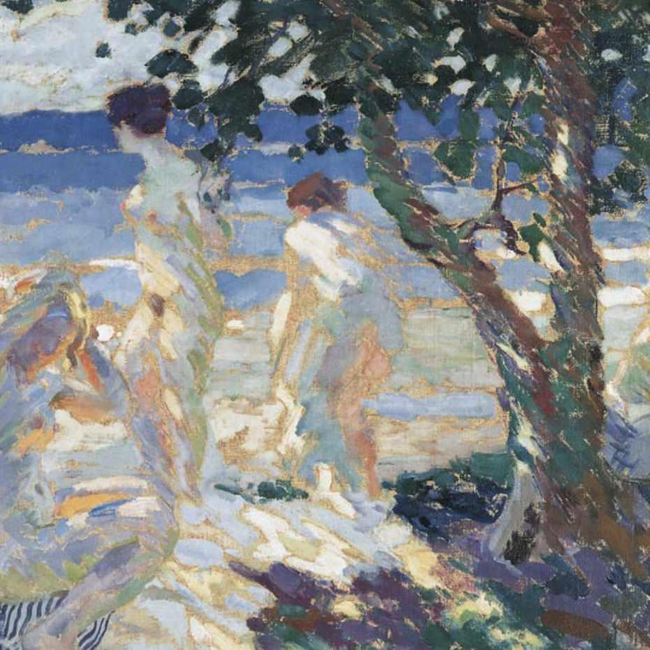 Santeri Salokivi, Tyttöjä rannalla, 1916, öljy kankaalle. Kuva: Museokuva Matti Huuhka & co.