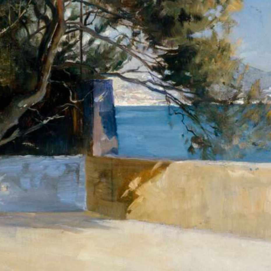 Albert Edelfelt, Maisema Beaulieusta, 1886, öljy kankaalle, 33 x 51 cm.