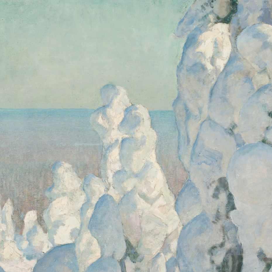 Pekka Halonen, Talvimaisema Kinahmista
