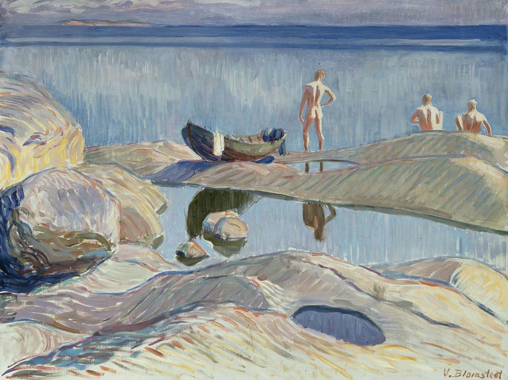 Väinö Blomstedt: Saaristomaisema, 1910-luku. UPM-Kymmenen Kulttuurisäätiö. Kuva: Matias Uusikylä