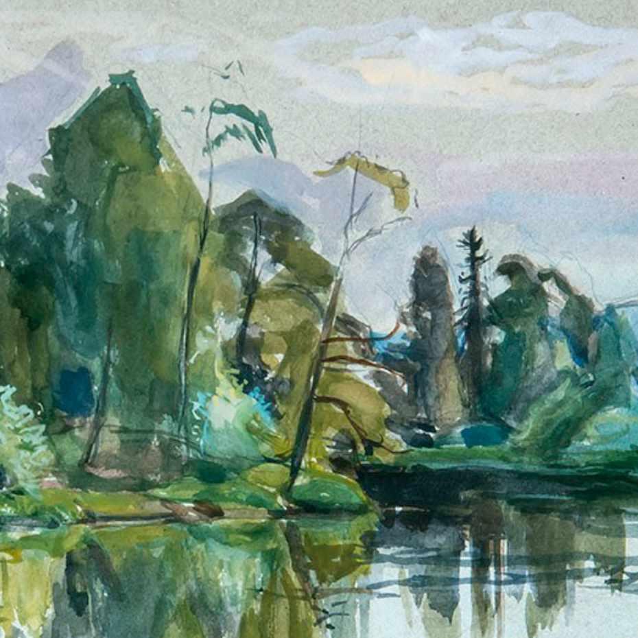 Eero Järnefelt, Onnen ja lemmen saari, 1934, 32,5 x 49 cm