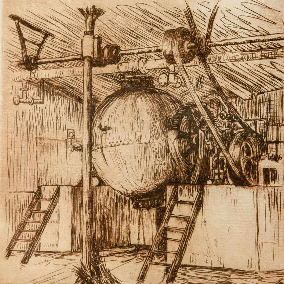 Hugo Simberg, Keittokuula, 1900, 11 x 10 cm, Viivasyövytys